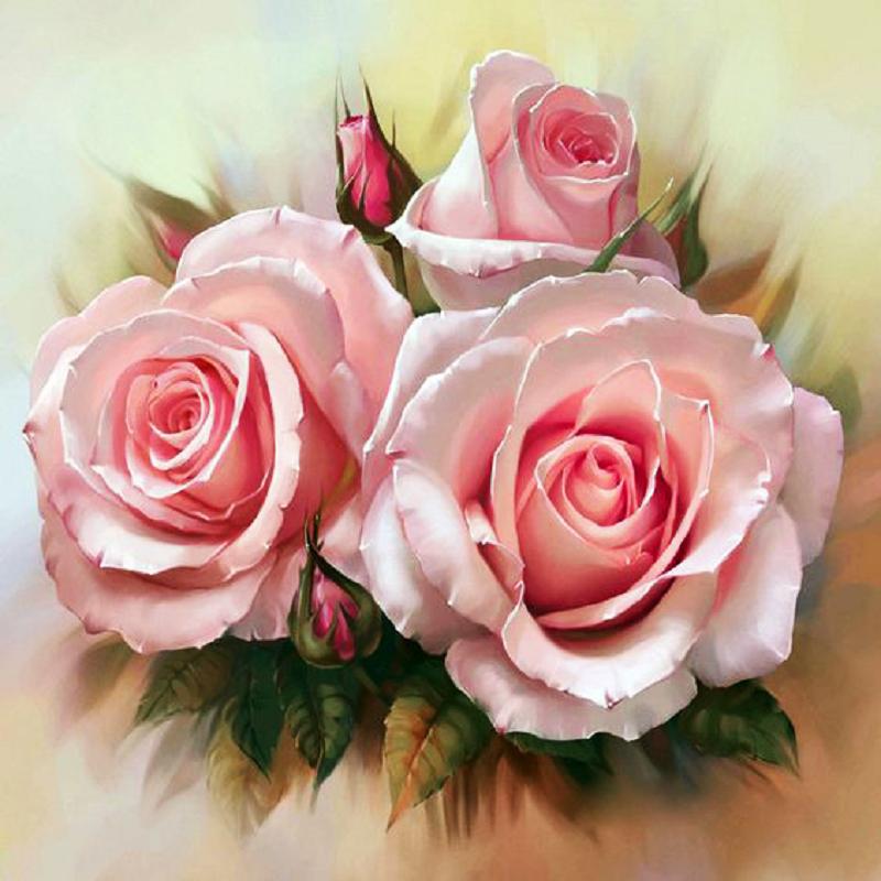 КДІ-0272 Набір алмазної вишивки Ніжність троянд