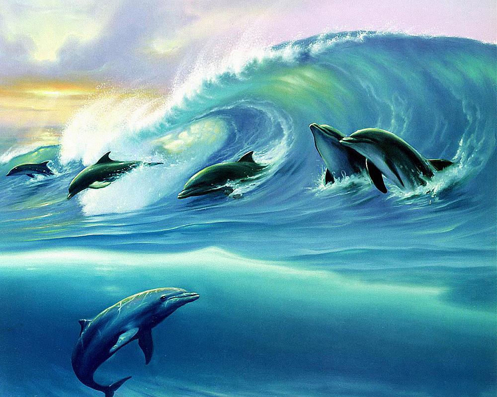 КДИ-0289 Набор алмазной вышивки Дельфины