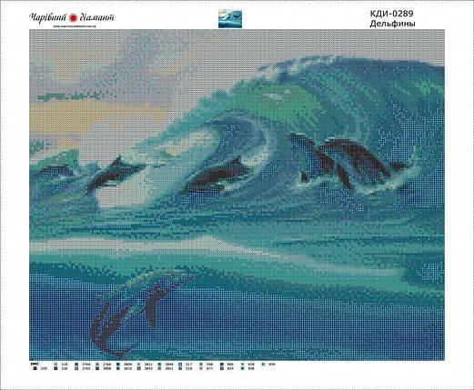 КДИ-0289 Набор алмазной вышивки Дельфины, фото 2
