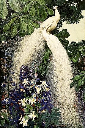КДИ-0295 Набор алмазной вышивки Прекрасная пара. Павлины, фото 2