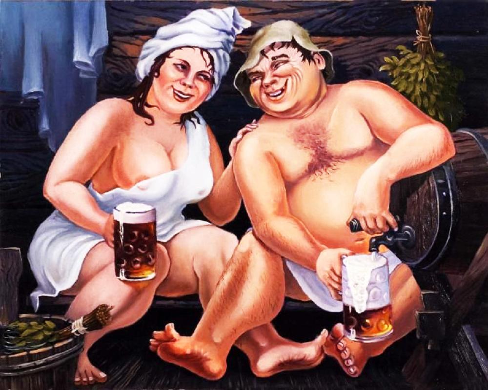 КДІ-0298 Набір алмазної вишивки Пиво в лазні. Художник Lymar Alexander