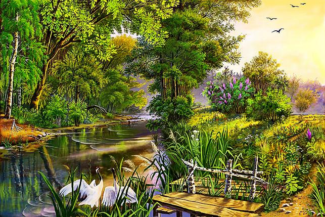 КДІ-0307 Набір алмазної вишивки Райське місце. Художник Tsyganov Viktor, фото 2