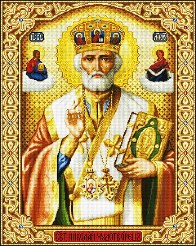 КДИ-0310 Набор алмазной вышивки Икона Святой Николай Чудотворец