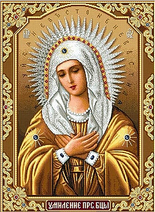 КДІ-0312 Набір алмазної вишивки Ікона Богородиця Замилування, фото 2