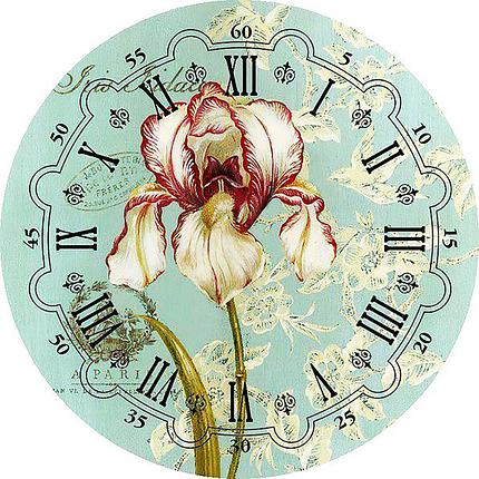 КДІ-0334 Набір алмазної вишивки Годинник – Ірис, фото 2