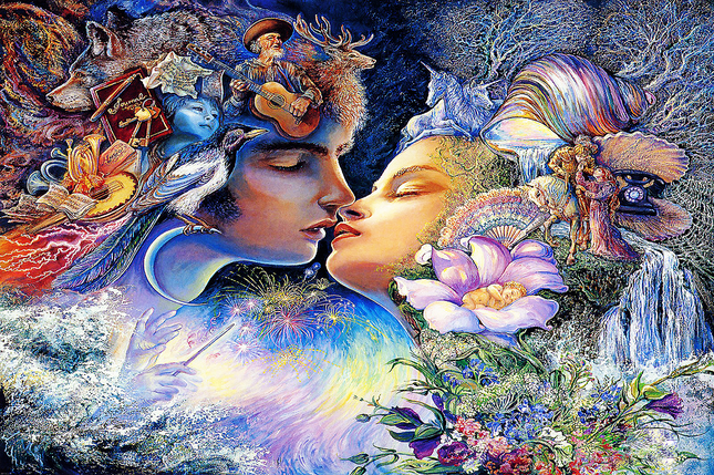 КДИ-0397 Набор алмазной вышивки Поцелуй. Художник Josephine Wall, фото 2