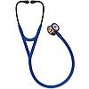 Стетоскоп серії Littmann® Cardiology IV™, темно-синій із дзеркальною головкою кольору веселки на чорній ніжці