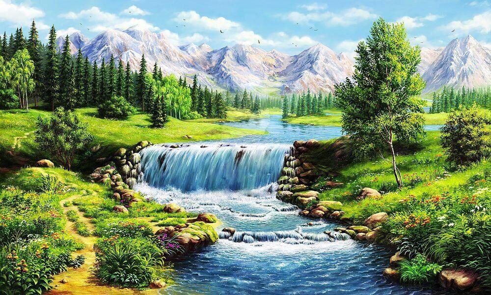 КДІ-0726 Набір алмазної вишивки Річна річка