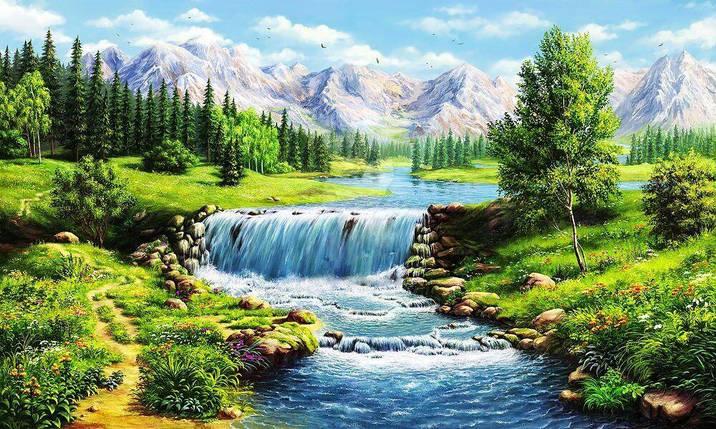 КДІ-0726 Набір алмазної вишивки Річна річка, фото 2