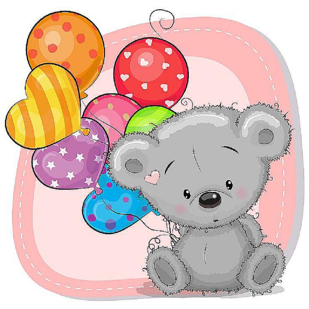 КДІ-0749 Набір алмазної вишивки Мишко з кульками