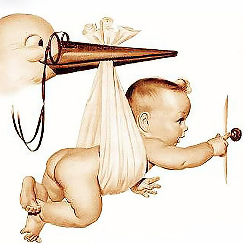 КДІ-0761 Набір алмазної вишивки Зустрічайте, малюка!