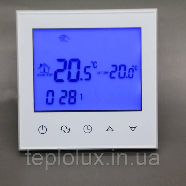Програмований терморегулятор Heat Plus BHT-321GB sensor white