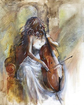 КДИ-0789 Набор алмазной вышивки Чарующая музыка виолончели, фото 2