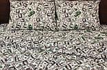 Комплект постельного белья  Бязь GOLD 100% хлопок Доллары, фото 2