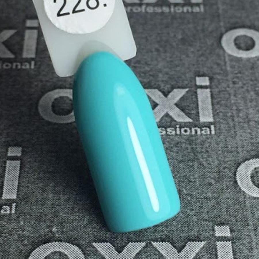 Гель-лак Oxxi Professional 228 10 мл (бирюзовый, эмаль)