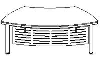 Стол руководителя Evolution ДСП 18\101 (1977х1021х779)