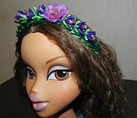 """Яркий ободок для волос """"Принцесса"""", холодный фарфор"""