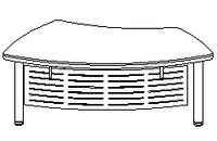 Стол руководителя Evolution ДСП 18\102 (1977х1067х779)