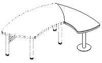 Приставной элемент Evolution ДСП 18\103(104) (720х1508х779)