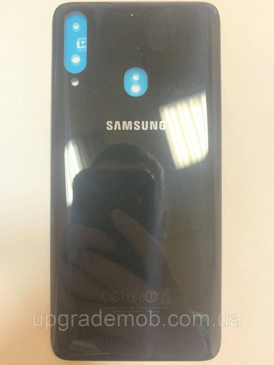 Задняя крышка Samsung A207F Galaxy A20s 2019, черная, оригинал