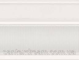 Фриз Интеркерама Arte 17,5x23 широкий белый (БШ 132 061)