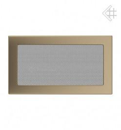 Вентиляционная решетка для камина KRATKI 17х30 см золотая гальванизированная