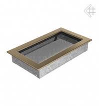 Вентиляционная решетка для камина KRATKI 17х30 см золотая гальванизированная , фото 2