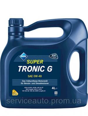 Моторное масло Aral SuperTronic G SAE 0W-40 4л (ar4)