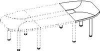 Элемент конференц стола Evolution ДСП 18\107 (900х1200х779)
