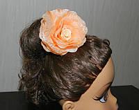 Заколка резинка для волос Чайная роза