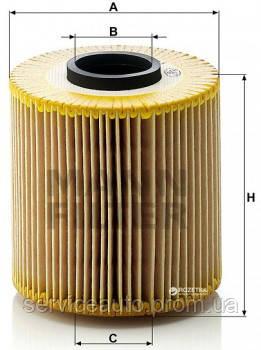 Фильтрующий элемент масляного фильтра MANN HU 921x - H 921x