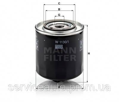 Фильтр масляный MANN W 1130/1