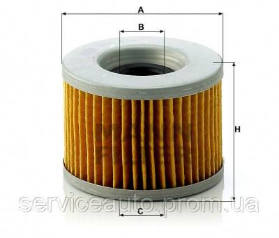 Фильтрующий элемент масляного фильтра MANN MH 814