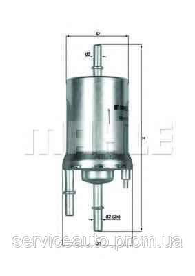 Фильтр топливный MAHLE KL156/1 (MX8798182)