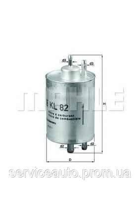Фильтр топливный MAHLE KL82 (MX8798329)