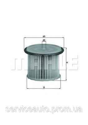 Фильтрующий элемент топливного фильтра MAHLE KX63/1 (MX8798882)