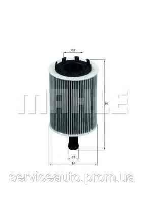 Фильтрующий элемент масляного фильтра MAHLE OX188DECO (MX8798861)