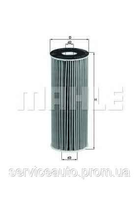 Фильтрующий элемент масляного фильтра MAHLE OX133DECO (MX8798798)