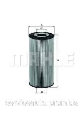 Фильтрующий элемент масляного фильтра MAHLE OX123/1DECO (MX8798770)