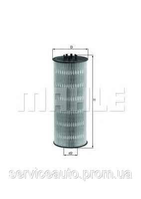 Фильтрующий элемент масляного фильтра MAHLE OX168DECO (MX8798714)