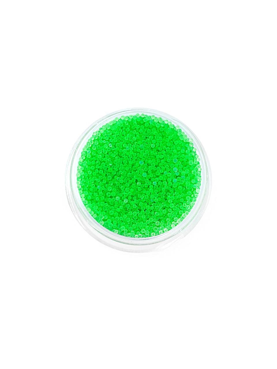 Бульонки для дизайна ногтей зеленые неоновые