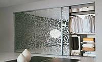 Двери для шкафов купе с рисунками пескоструем