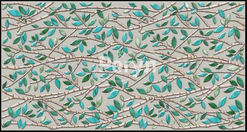 Листовая панель ПВХ на стену Регул, Мозаика (Малахитовый листок)