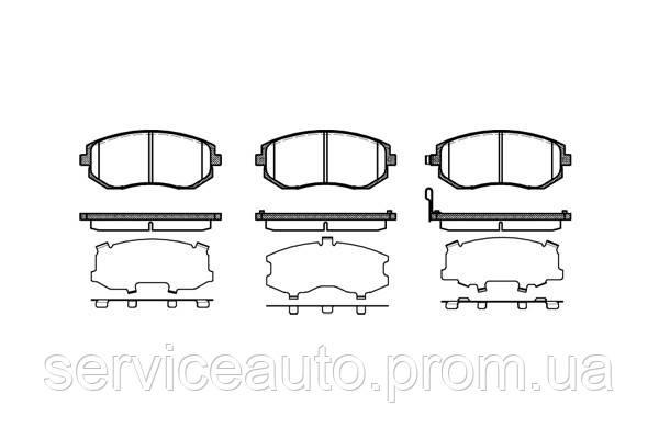 Тормозные колодки дисковые передние Remsa RE 0951.11/ПЕРЕДН SUBARU FORESTER 2.0 2.5 03-,IMPREZA 08-,LEGACY IV