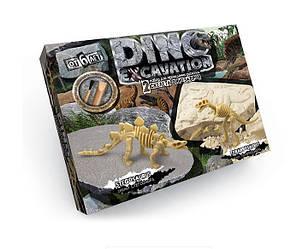 """Набор для проведения раскопок Danko Toys """"DINO EXCAVATION"""" динозавры (стегозавр, тираннозавр)"""