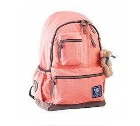 """Рюкзак підлітковий """"Yes"""" OXFORD /554085/ OX 236, персиковий, 30*47*16"""