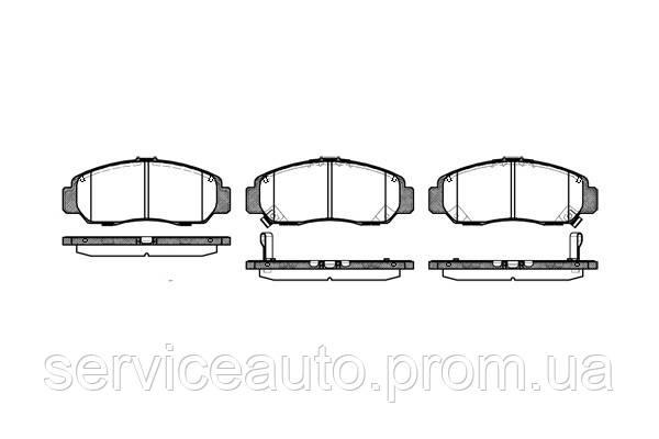 Тормозные колодки дисковые передние Remsa RE 0747.12/ПЕРЕДН HONDA CIVIC SEDAN 07-