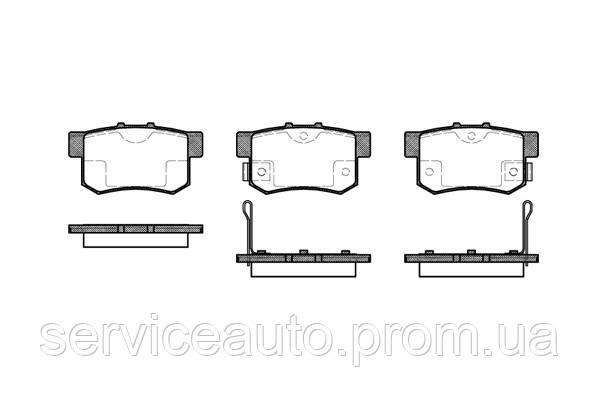 Тормозные колодки дисковые задние Remsa RE 0325.02/ЗАДН HONDA ACCORD,CIVIC, CRZ, INSIGHT,LEGEND 1.3I-3.5I 16V