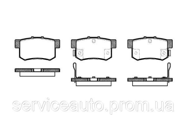 Тормозные колодки дисковые задние Remsa RE 0325.32/ЗАДН HONDA ACCORD,CIVIC, CRZ, INSIGHT,LEGEND 1.3I-3.5I 16V