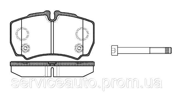 Тормозные колодки дисковые задние Remsa RE 0849.10/ЗАДН FORD TRANSIT 2.2 2.4 07/06-